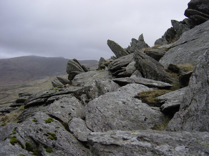 Rock formations on Green Pikes.