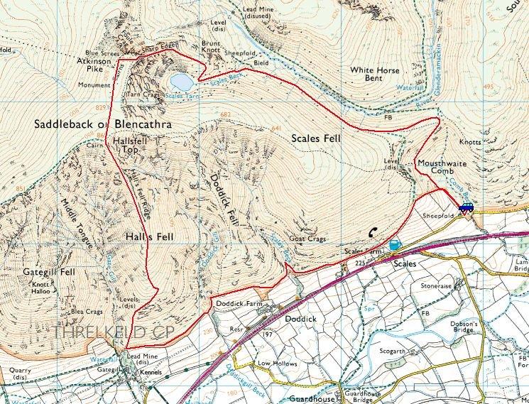 Blencathra, Sharp Edge, Hall's Fell Ridge