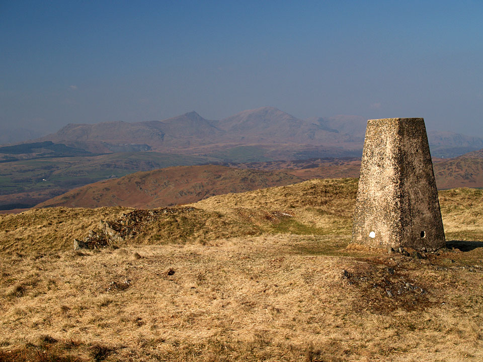 The Coniston fells from Burney, named Great Burney on the OS map