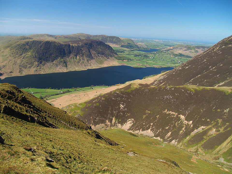 Crummock Water with Loweswater beyond from Whiteless Pike