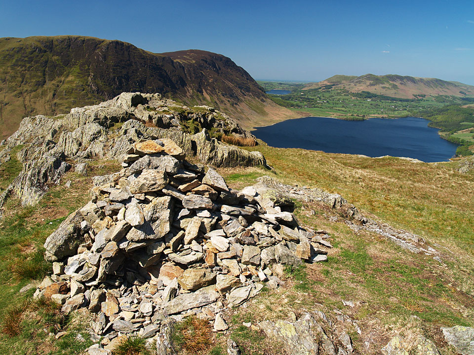 The view from Rannerdale Knotts summit