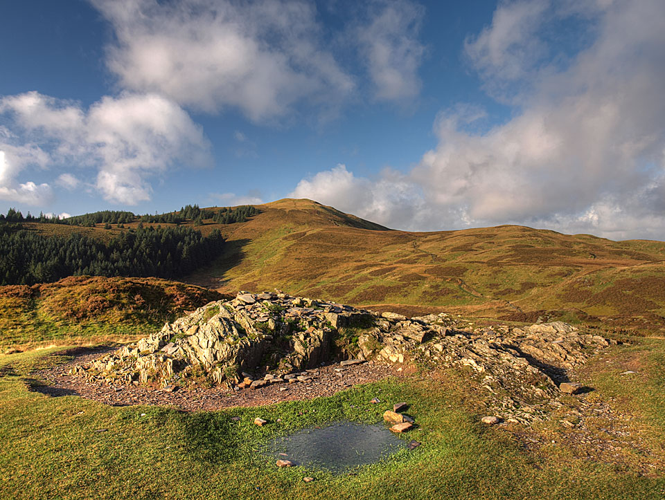 The summit of Barf looking back to Lord's Seat