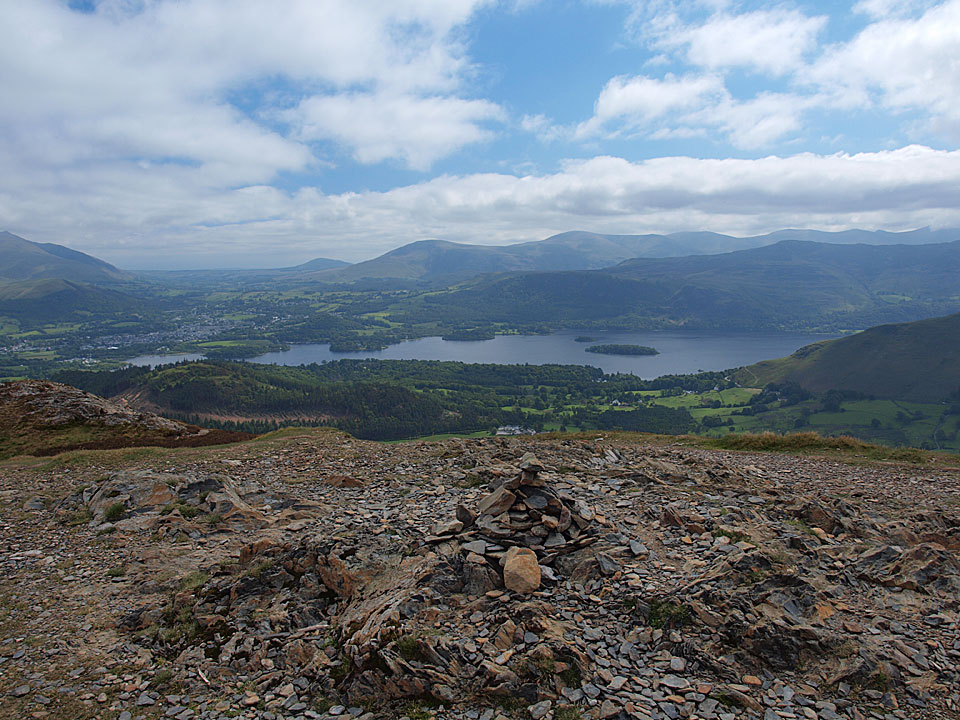 Looking across Derwent Water from the summit of Barrow