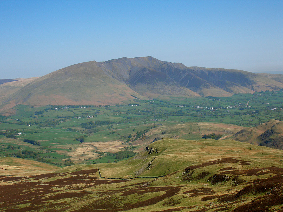 Blencathra from the summit of Bleaberry Fell
