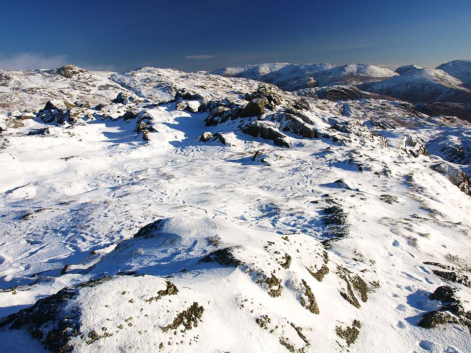 The Helvellyn range from the summit