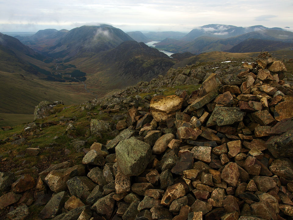 Ennerdale and Buttermere from the summit of Green Gable