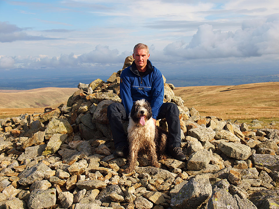 Me with Casper on High Raise - my third completion of the 214 Wainwrights