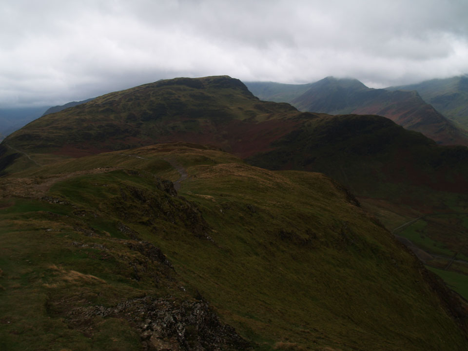 Maiden Moor with Hindscarth beyond from Catbells