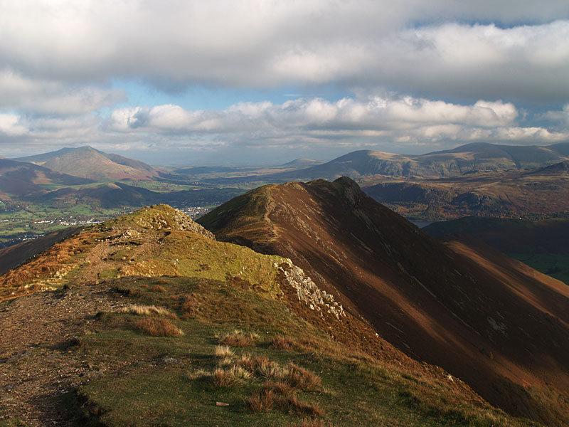 Causey Pike from Scar Crags - Blencathra is to the left then Great Mell Fell, Clough Head and Great Dodd