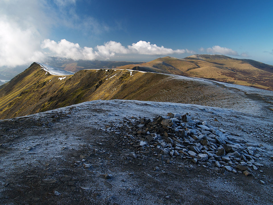The summit of Blencathra from Hall's Fell Top - the highest point on the ridge