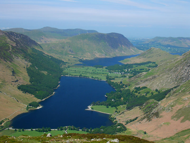 Buttermere from Fleetwith Pike.