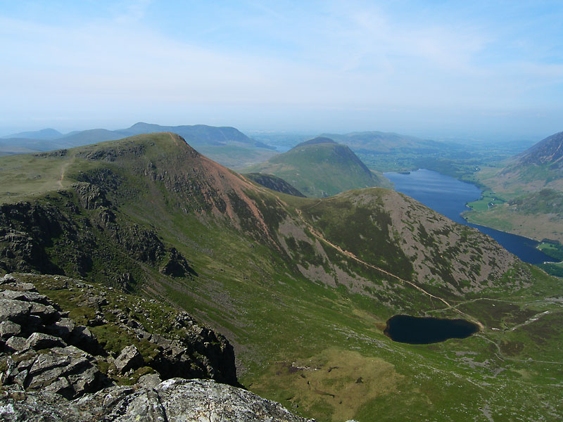 The aptly named Red Pike and Dodd above Bleaberry Tarn - taken from Grey Crag.