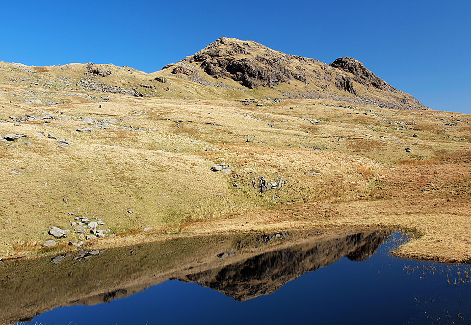Little Hart Crag reflected in Scandale Tarn