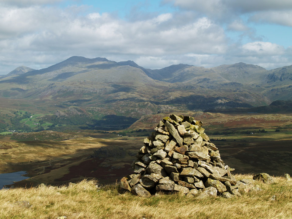 The Scafells from Woodend Height