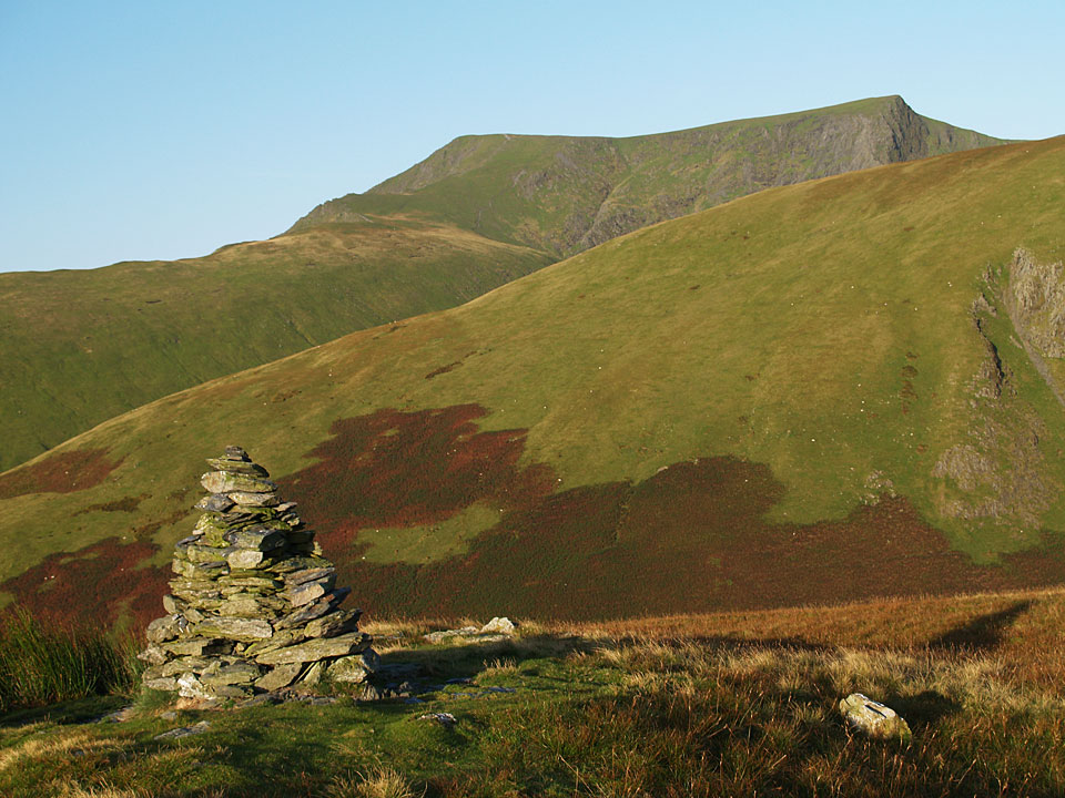 Blencathra from the southern cairn on Souther Fell
