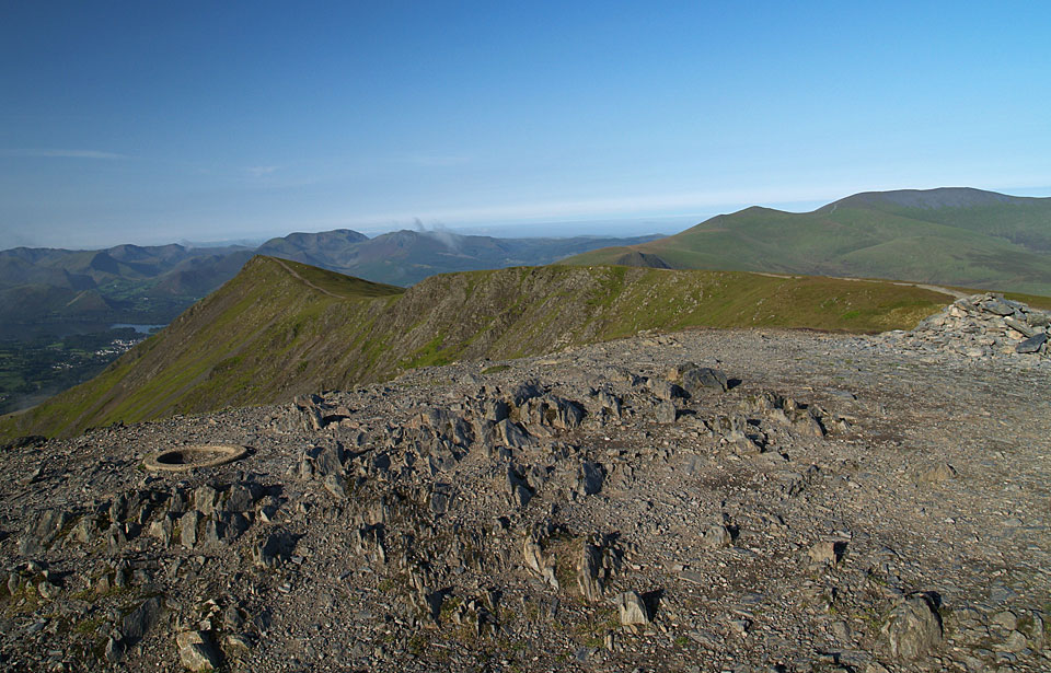 The summit of Blencathra.