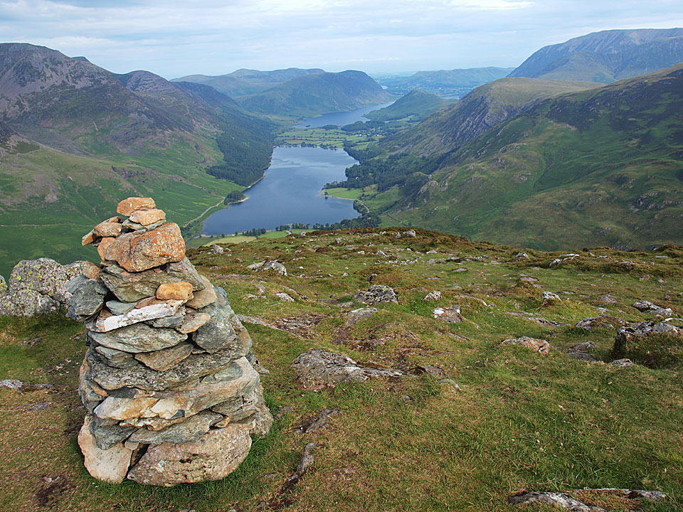 Fleetwith Pike, overlooking Buttermere and Crummock Water