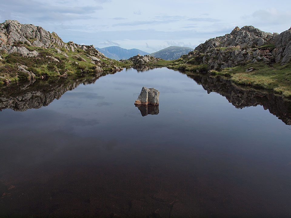 Innominate Tarn, where Wainwright's ashes are scattered