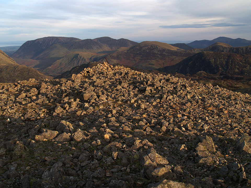 Looking north-west from Kirk Fell summit