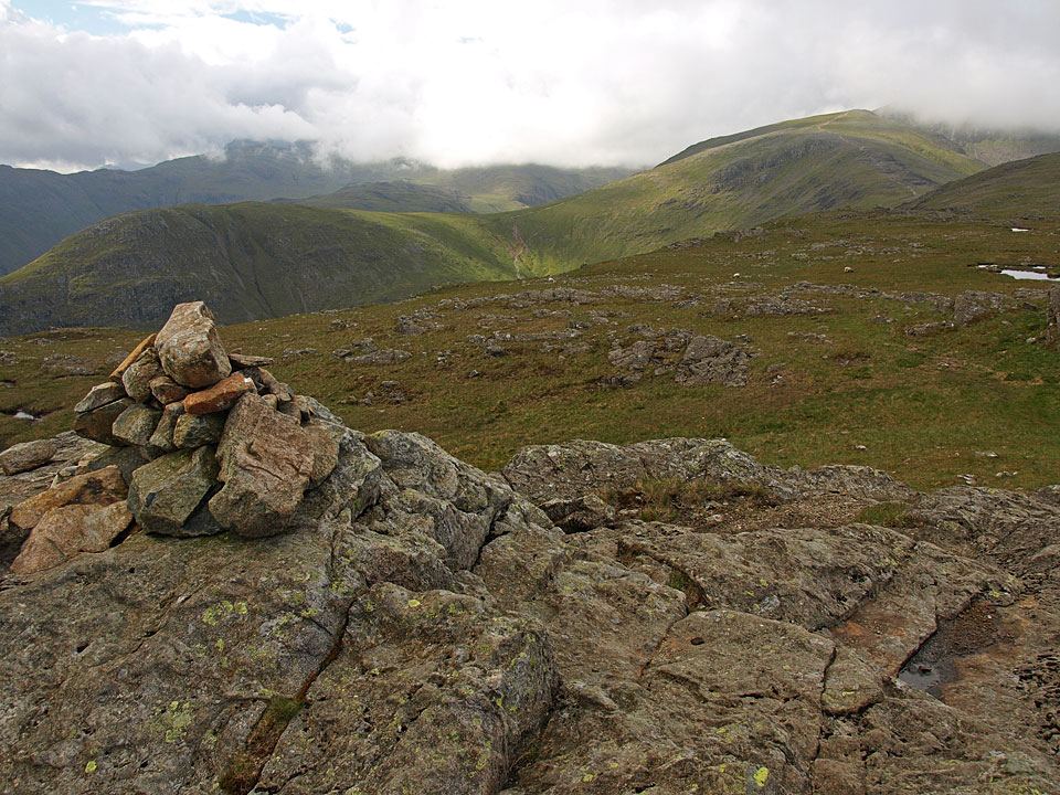 Base Brown and Green Gable from the eastern - and recognised - summit of Grey Knotts