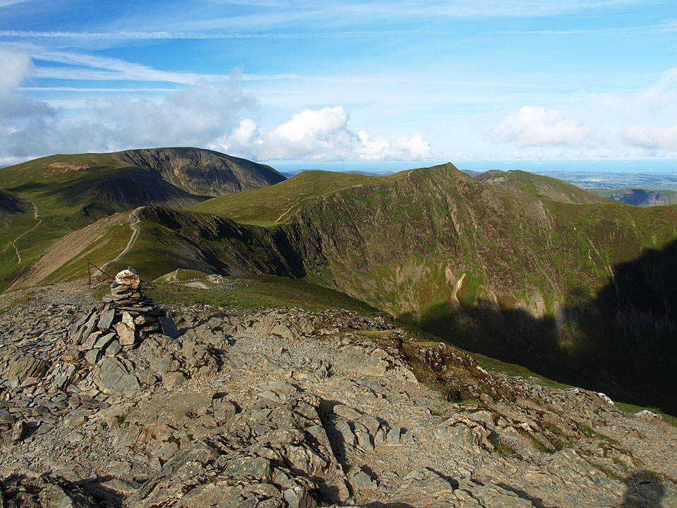 Grasmoor and Hopegill Head from Grisedale Pike