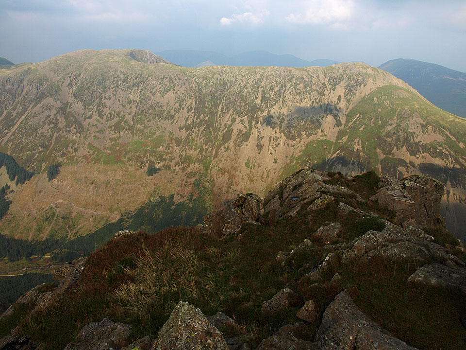 The view to High Stile and High Crag across Ennerdale from the top of Pillar Rock