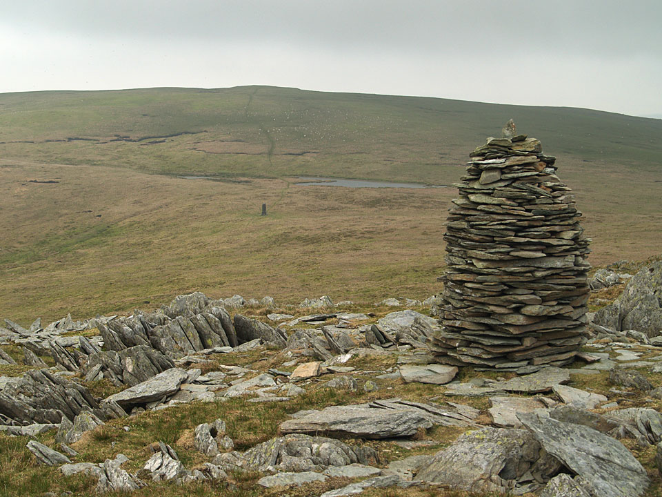 One of the cairns on Artle Crag below Branstree summit