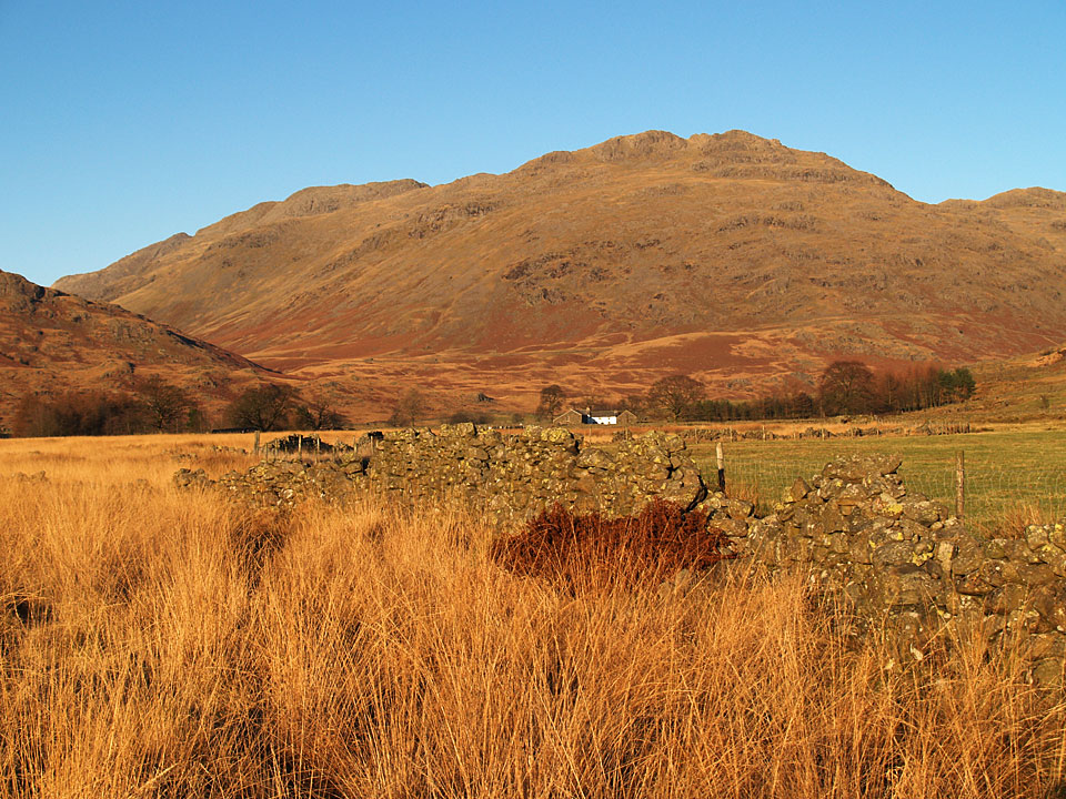 Little Stand and Crinkle Crags from the Duddon Valley