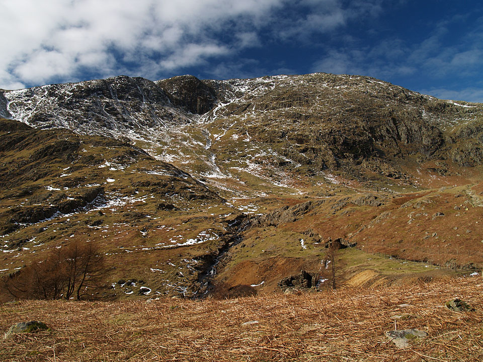 Wetherlam from the top of Tilberthwaite Gill
