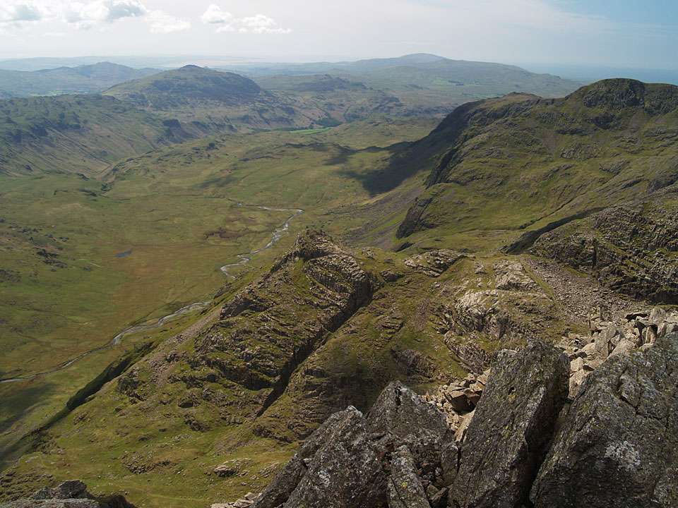 Looking down on Great Moss from Ill Crag