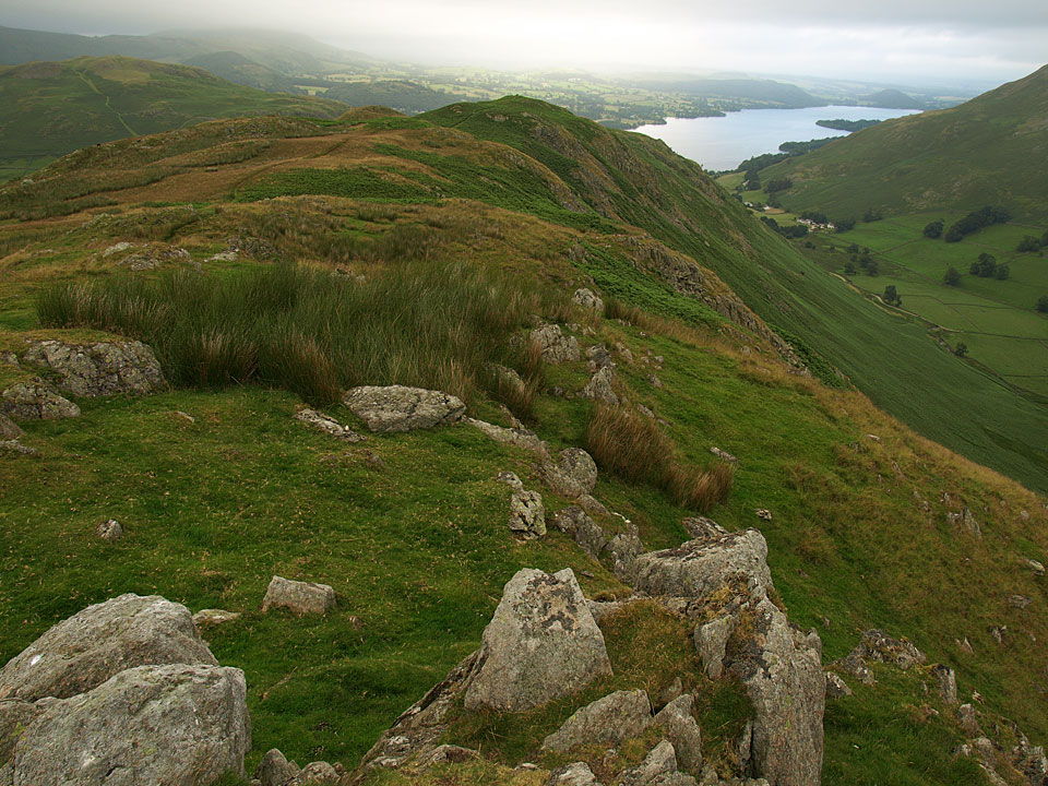 The view of Ullswater from Pikewassa, the summit of Steel Knotts