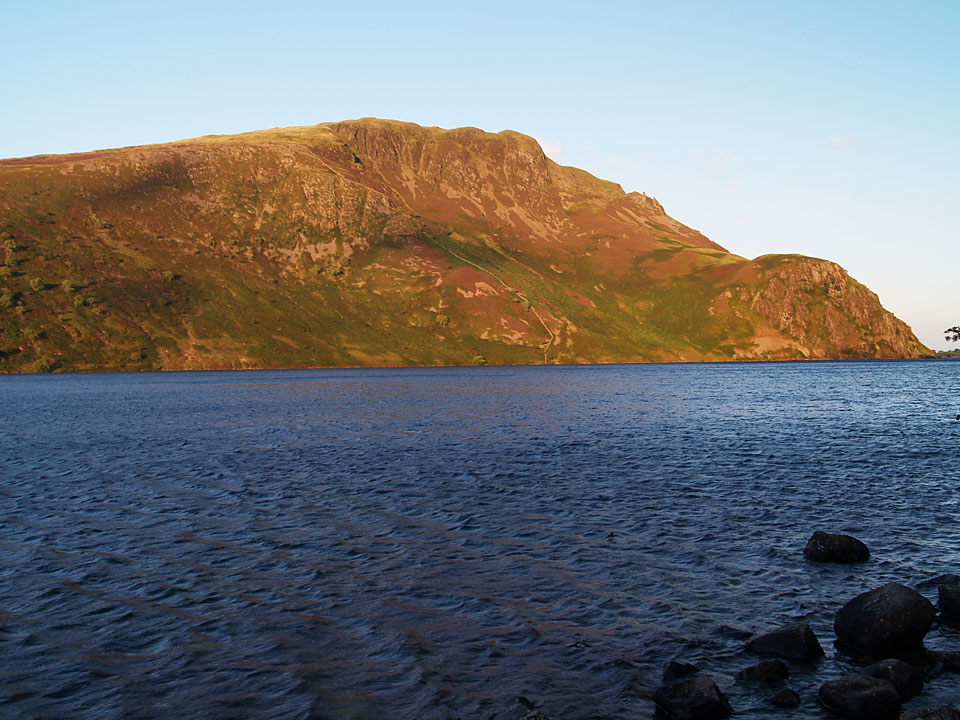 Early morning light on Crag Fell over Ennerdale Water