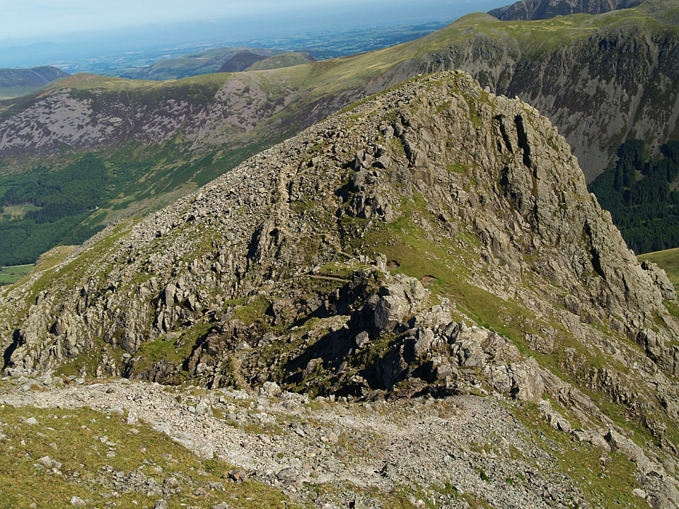 The walk out to Steeple from Scoat Fell is along this fine, airy arête.
