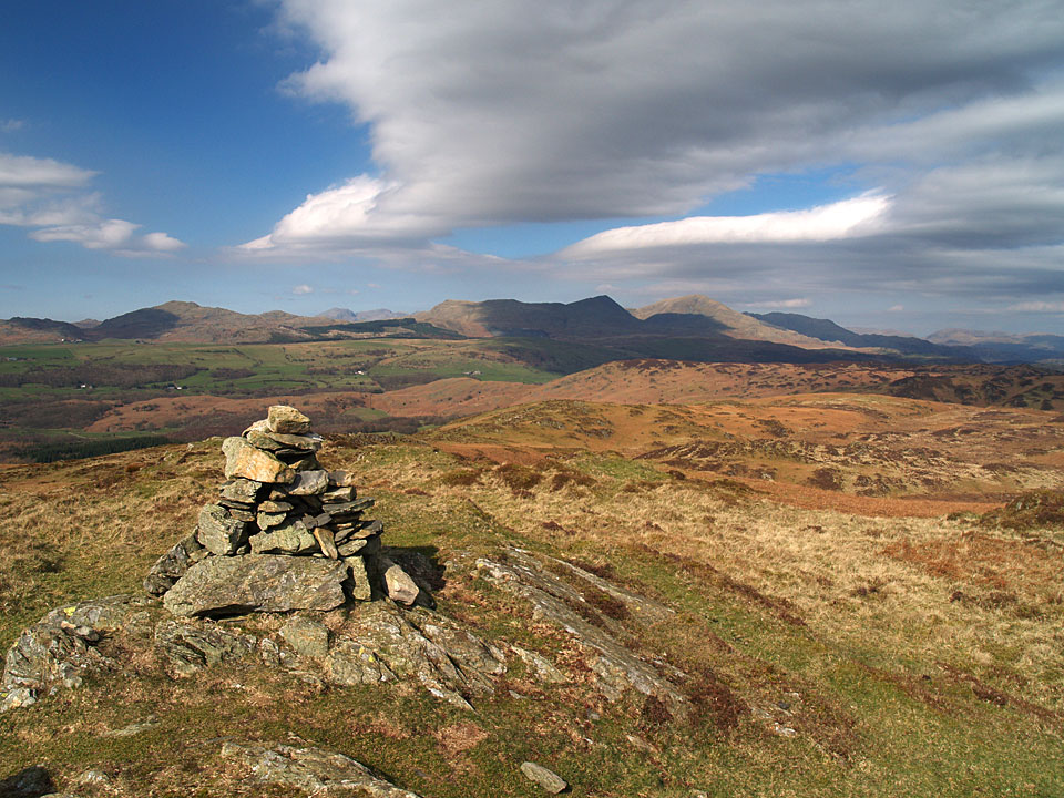 The Coniston fells from the summit of Blawith Knott