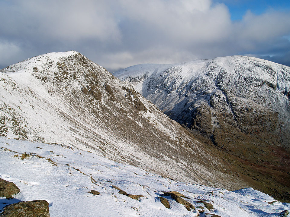 Heading for Buck Pike with The Old Man of Coniston to the right