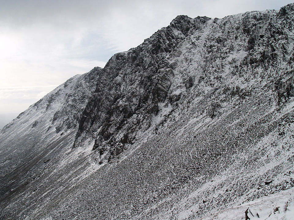 A monochromatic looking Dow Crag from Goat's Hawse