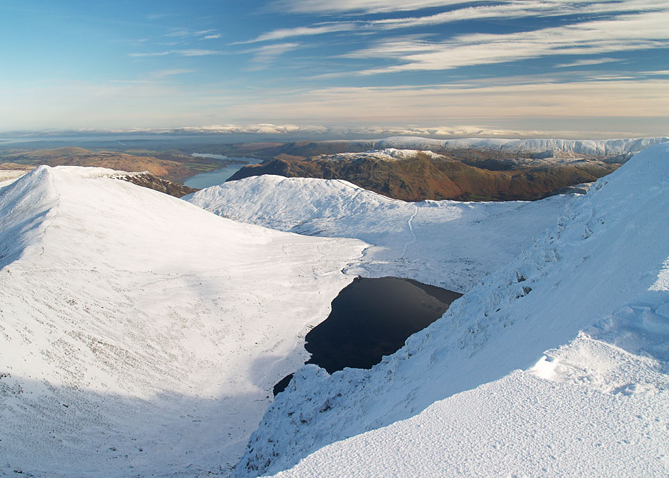 Birkhouse Moor, centre, from Helvellyn