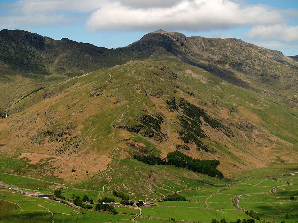 Bow Fell and The Band from Side Pike
