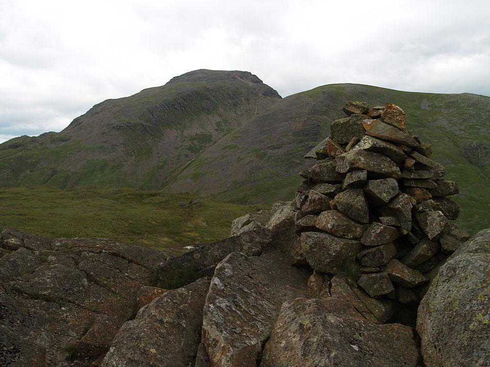 Great Gable from the Wainwright summit of Seathwaite Fell