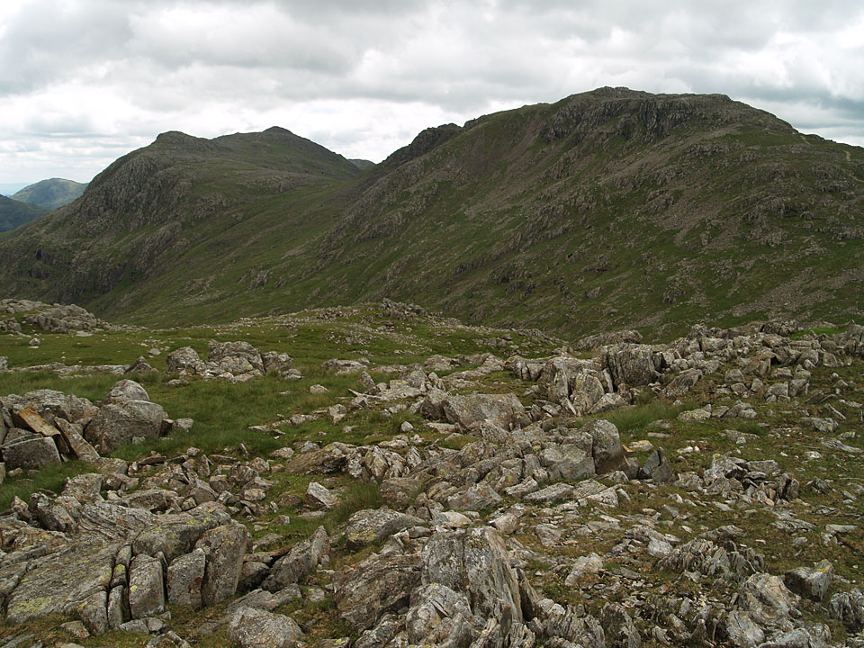 Bow Fell and Esk Pike from Allen Crags
