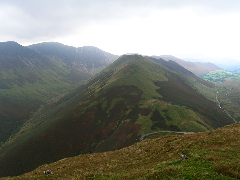 Knott Rigg across Newlands Hause from Robinson
