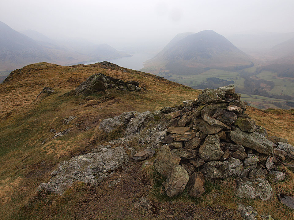Mellbreak and Crummock Water from Low Fell