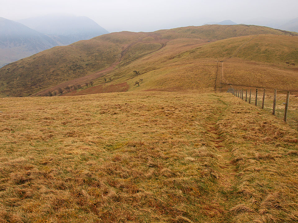 Looking back from the climb to Fellbarrow