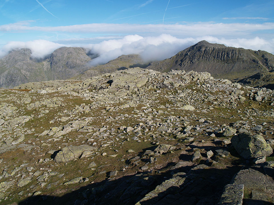 Clouds over the Scafells from Long Top