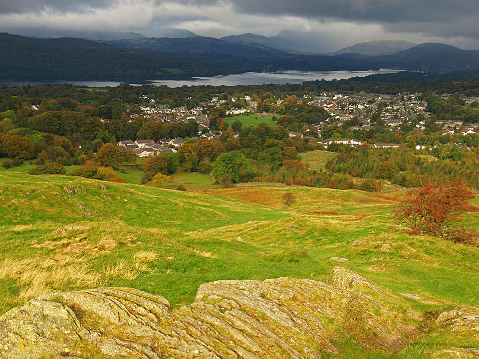 Windermere - town and lake - from School Knott