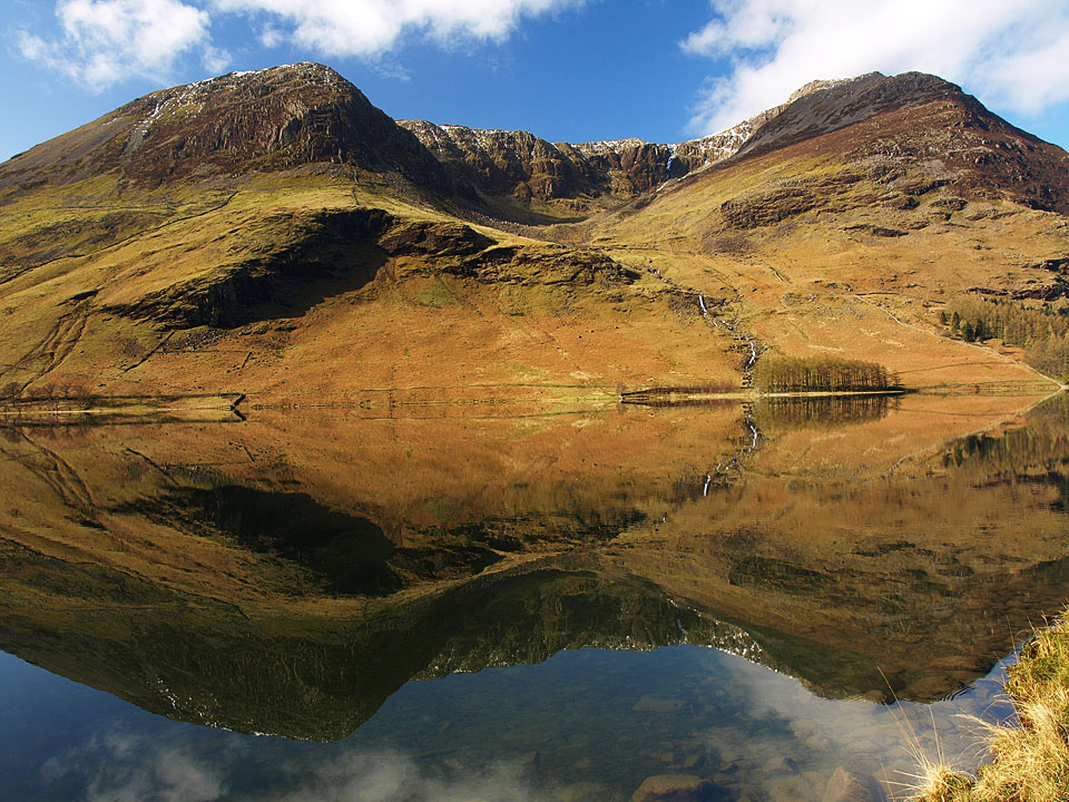 High Crag and High Stile reflected in Buttermere