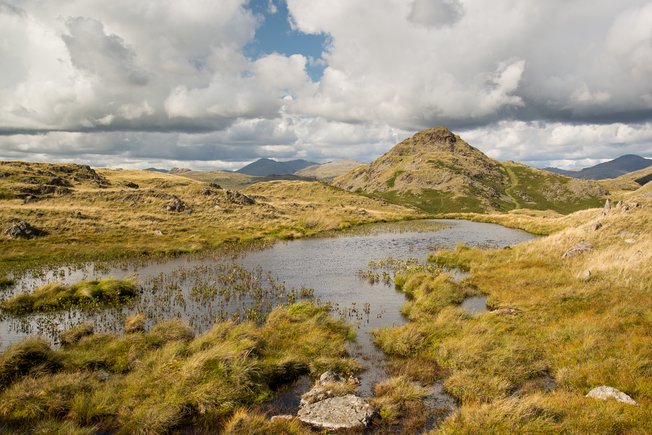 A lovely view across a tarn