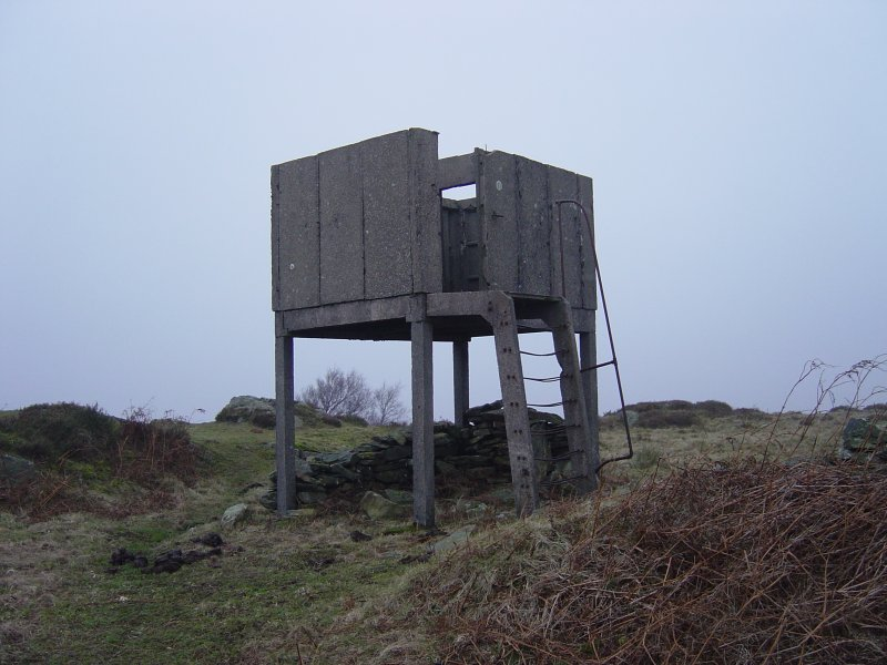 The tower on Bigland Barrow - a wartime relic, now in a state of disrepair