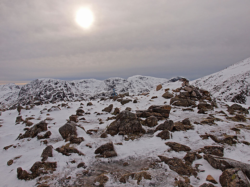Great End and the Scafells from Green Gable