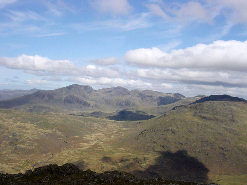 The Scafells from Grey Friar.